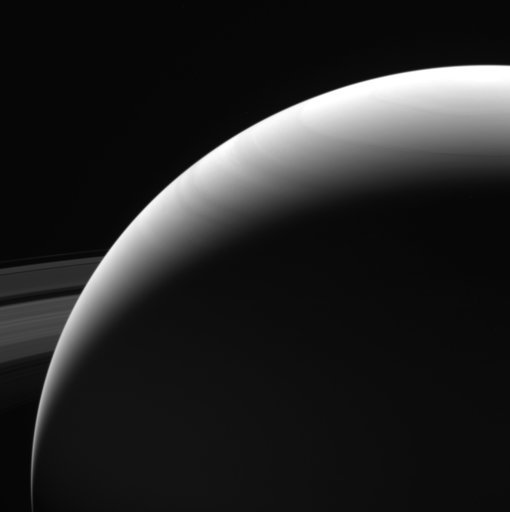 This Wednesday, Sept. 13, 2017 image made available by NASA on Friday, Sept. 15, 2017 shows the northern hemisphere of Saturn as seen from the Cassini spacecraft on its descent towards the planet. The probe disintegrated in the skies above the Saturn early Friday after a 20-year mission. (NASA/JPL-Caltech/Space Science Institute via AP)