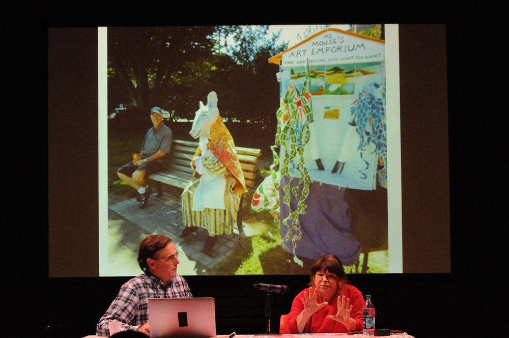 Ballad Institute and Museum of Puppetry hosts seminar Thursday, September 21. Guest speaker Sara Peattie discusses building community through puppetry. (Natalija Marosz /The Daily Campus)