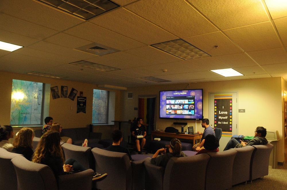 The Rainbow Center held a social Friday, September 22, discussing LGBTQ+ representation in media. (Natalija Marosz/The Daily Campus)