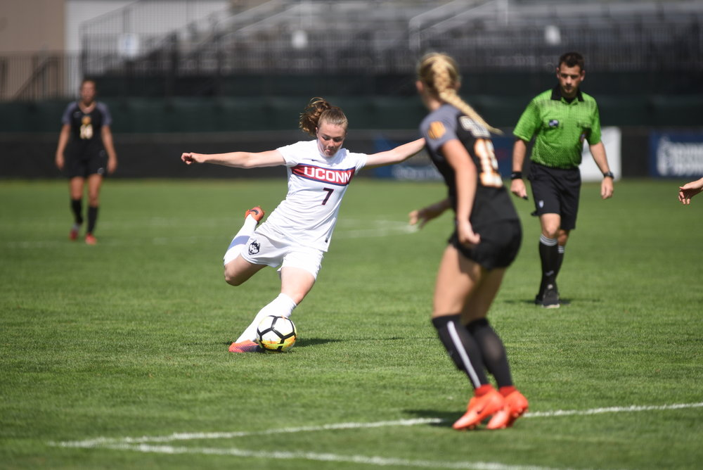 UConn women's soccer begins the conference portion of their season as they host Cincinnati on Thursday at Joseph J. Morrone stadium. (Charlotte Lao/The Daily Campus)