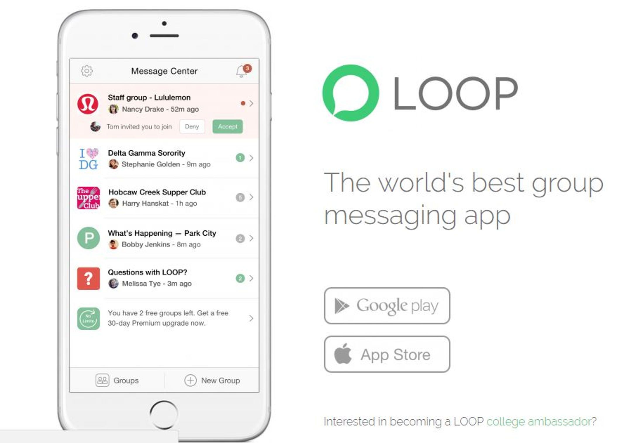 LOOP Messenger Review: New group app allows students to stay