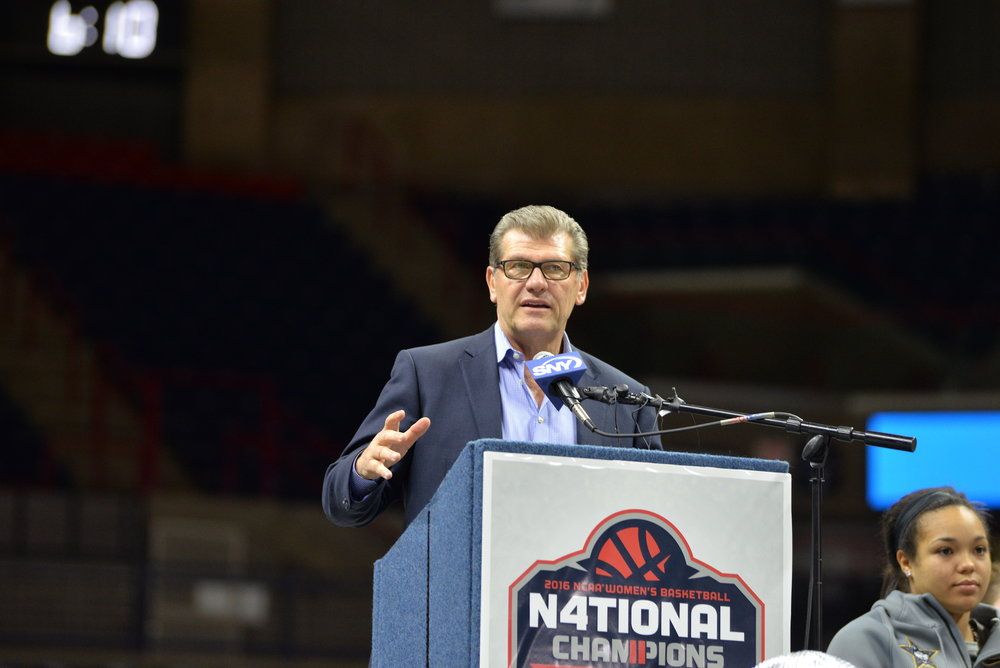 Geno Auriemma mentioned that he would have no problem forgoing his salary for the next year or even leaving the university if it would help keep away some of the major cuts coming to the university. (Amar Batra/The Daily Campus)