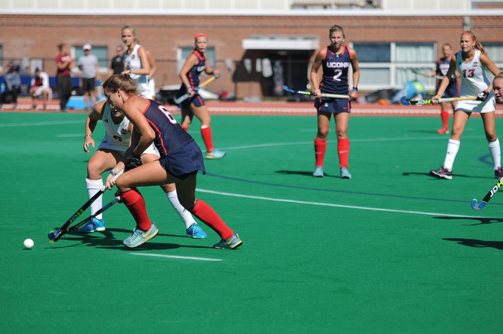 Field Hockey, still no. 1 in the nation, improved to 11-0 on the season, 3-0 Big East. (Alexis Taylor/ The Daily Campus)