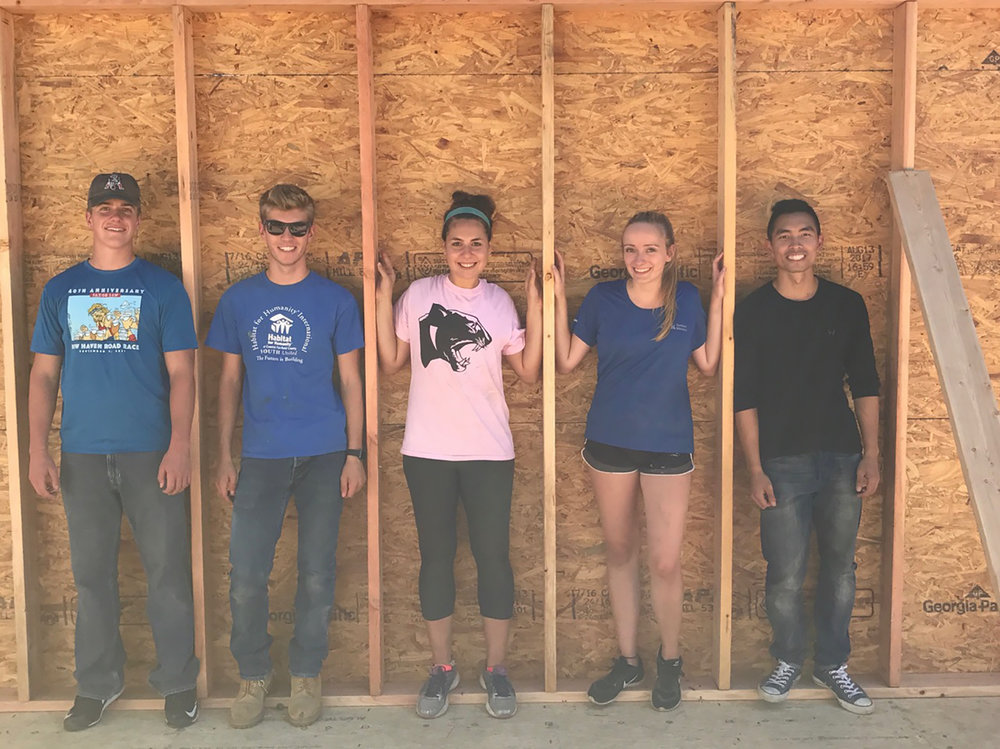 Five members of UConn's campus chapter participated in a workday in Willimantic, Connecticut on Saturday Sept. 23 with Habitat for Humanity.  Habitat for Humanity's overall goal is to provide sustainable and affordable housing to qualifying families. (photo provided by author)