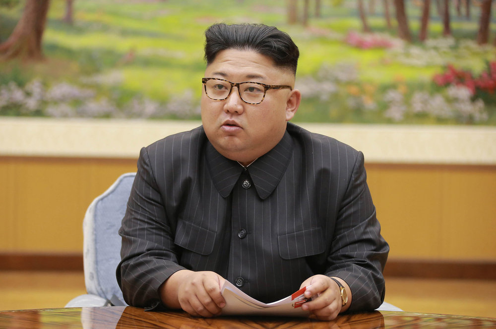 "KimJong Un holds a meeting of the ruling party's presidium on Sept. 3, 2017 and calls Donald Trump ""deranged"" for his comments at the UN. North Korea has assured the world that it is possible to maintain a totalitarian regime in the modern day. (File/AP)"