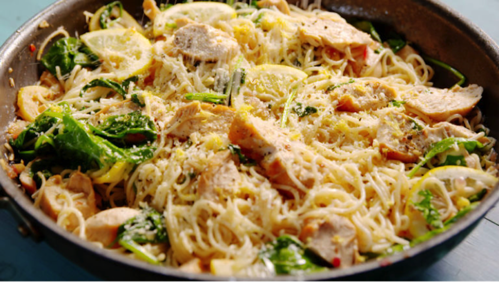 This week on Melissa's Menu: lemon butter chicken pasta. It is the ultimate comfort food as midterms approach. (Photo courtesy of Delish.com)