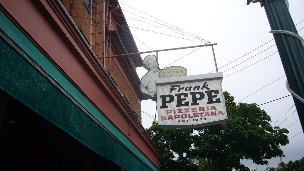 Frank Pepe's is a premier pizza spot in New Haven according to life writer Lauren Brown. ( Kent Wang /Flickr, Creative Commons)