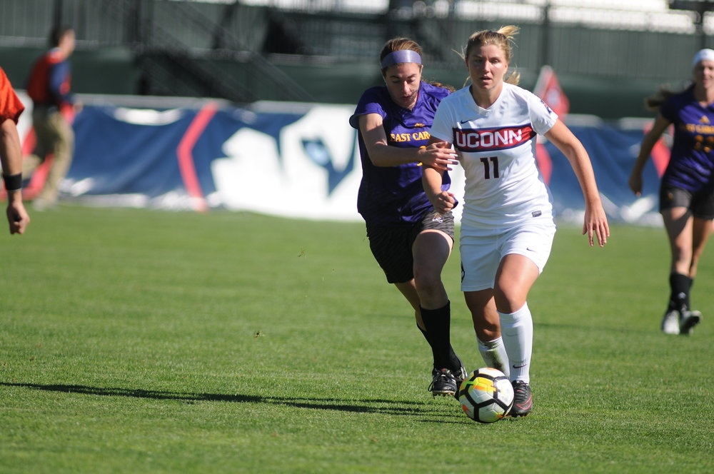 UConn women's soccer defeated ECU at home 2-1 this past Sunday, but are headed on the road again. (The Daily Campus/Natalija Marosz)