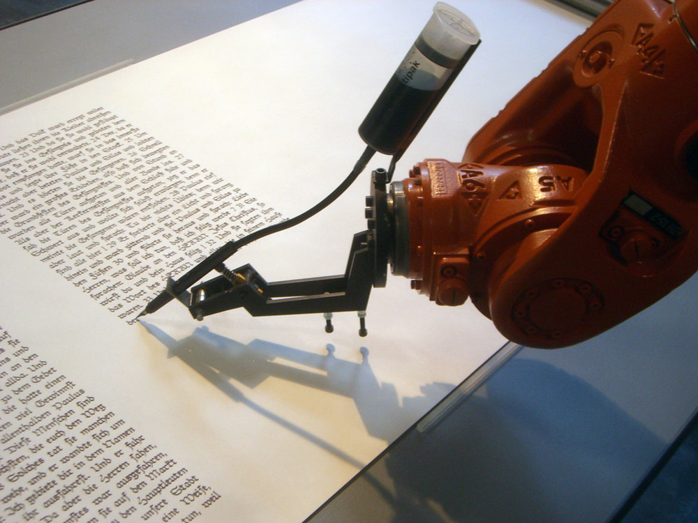 Robots have in fact produced entire novels, using advanced algorithms that are only getting better through human appreciation and with our determination to improve on them. (Mirko Tobias Schäfer/Flickr Creative Commons)
