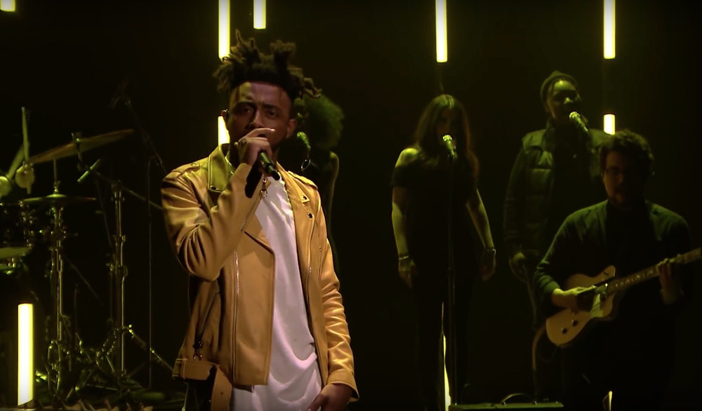 Amine performing on Jimmy Fallon in 2017. (Sweetfeet610/Wikimedia Creative Commons)