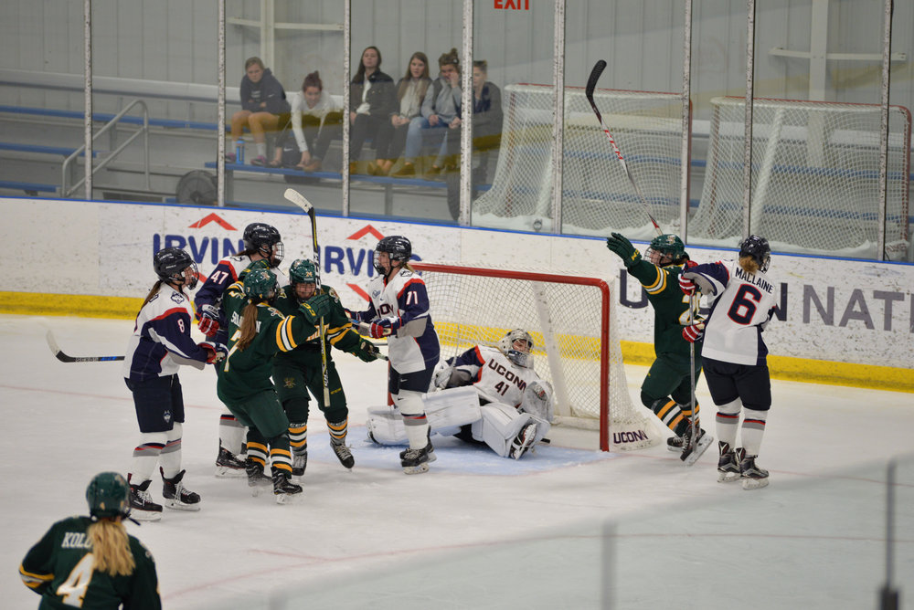 Vermont beat the Huskies in their home-opener Saturday. (Amar Batra/The Daily Campus)