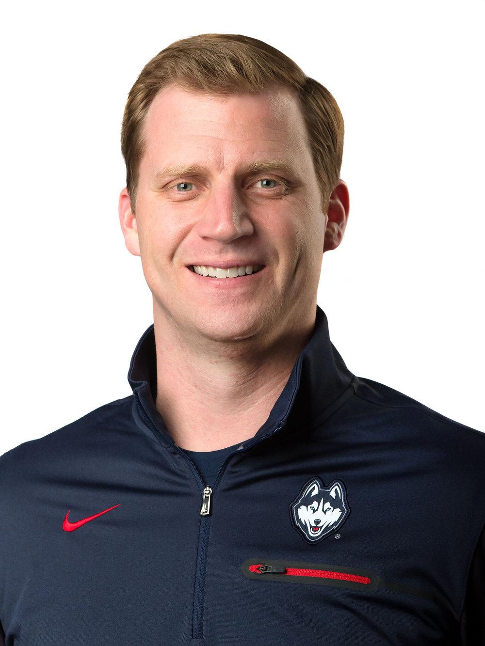 UConn Offensive Coordinator Rhett Lashlee (UConn Athletics)