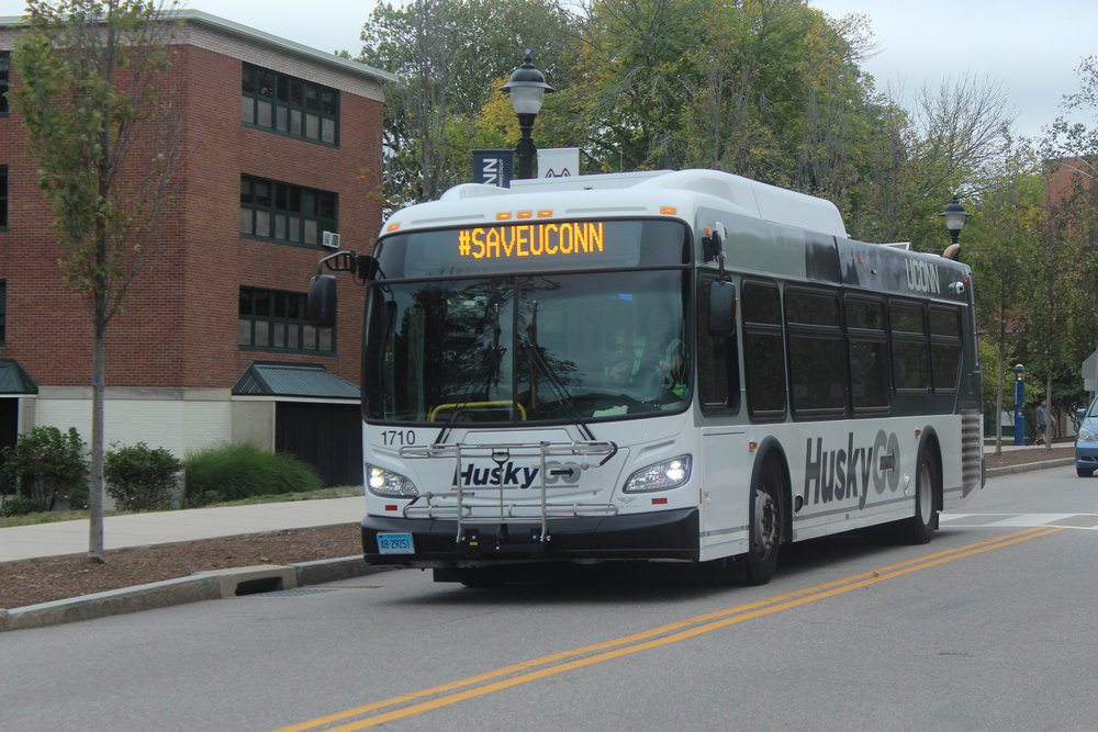 Making the bus isn't as easy as it sounds.  (Ryan Murace/The Daily Campus)