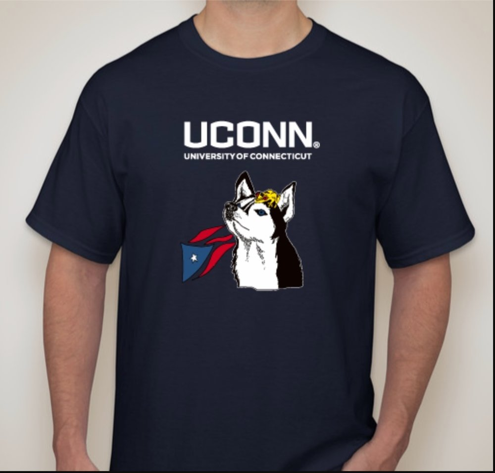 UConn United for Puerto Rico sells t-shirts to benefit relief efforts. T-shirts will be on sale for the next week. (Josh Stanavage/The Daily Campus)