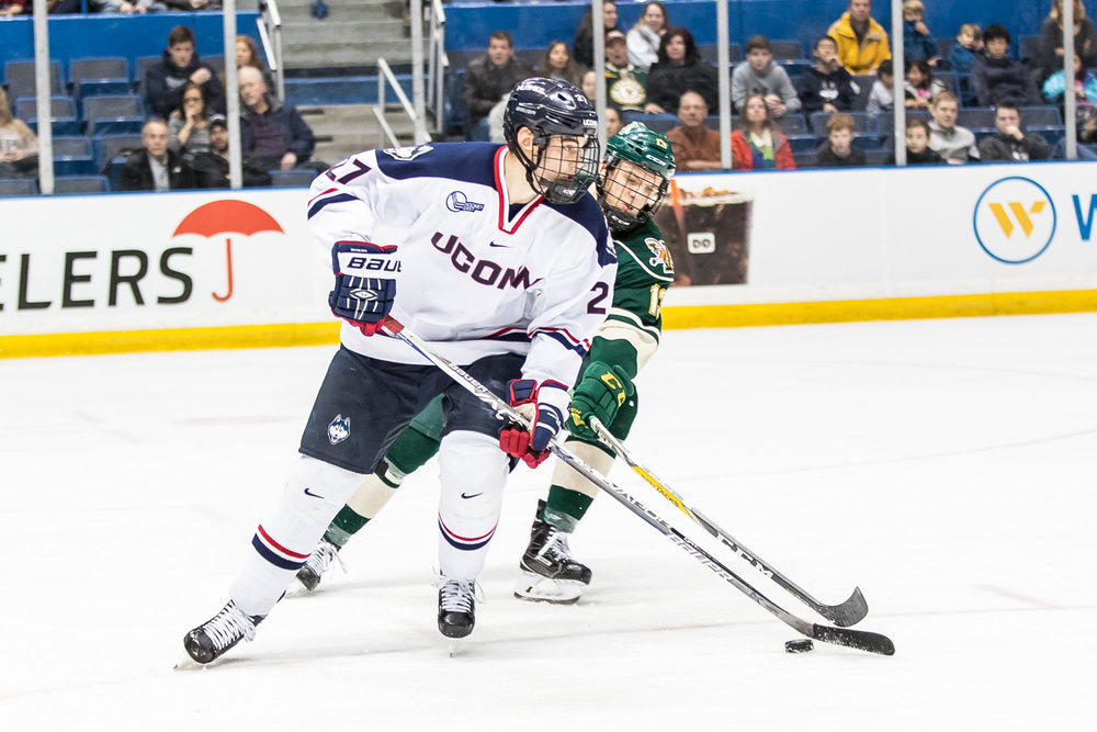 Following this weekend, UConn will take on conference foe Boston University in Boston before heading to Hartford for their home opener. (File/The Daily Campus)