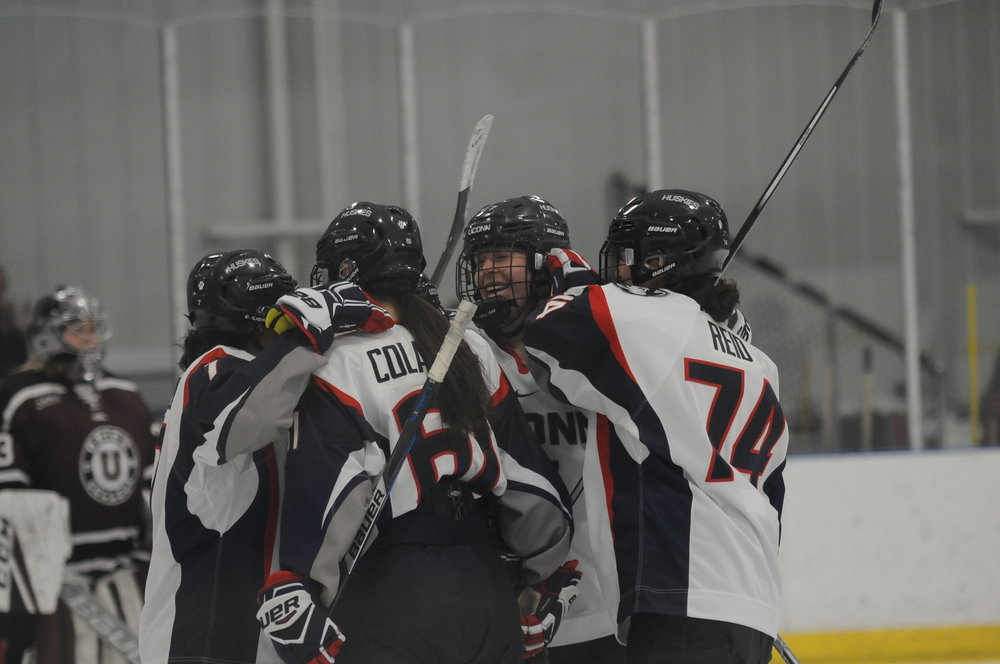 The UConn Women's Ice Hockey team won 6-1 to Union College this Friday. They play Boston College next Friday at home. (Eric Wang/The Daily Campus)