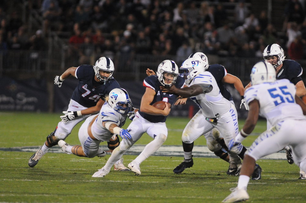 UConn took on Memphis on Friday, October 6 at Rentschler field. The Huskies fell to the Tigers with a final score of 70-31. (Olivia Stenger/ The Daily Campus)