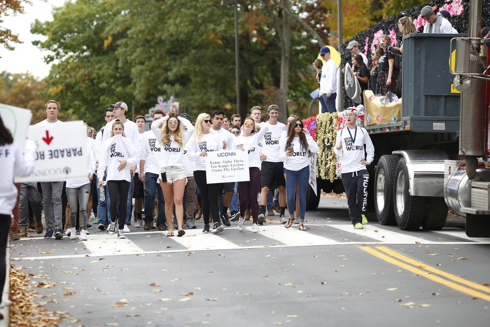 "On Oct. 9, six days before the parade was to take place, the presidents of the Greek organizations participating in Homecoming received an email from the Jamel Catoe, director of the Office of Fraternity and Sorority Life, which stated that floats were not to be built, though participating organizations could still build ""wheeled props"" for the parade. (File/The Daily Campus)"