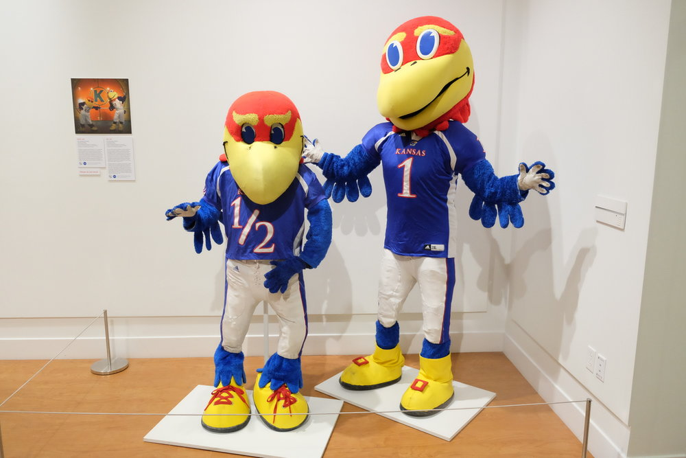 A variety of mascots can be found at the Ballard Institute and Museum of Puppetry on Monday Oct. 24. The mascots of the 21st century is open, ranging from pro sport mascots to commercial mascots. (Jon Sammis/ The Daily Campus)