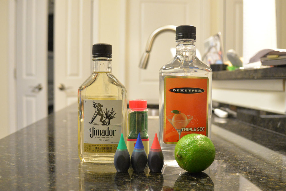 We know that these ingredients don't look particularly spoopy (except for maybe the lime) but when they are combined together they make a truly fantastic Halloweekend drink. (Amar Batra/The Daily Campus)