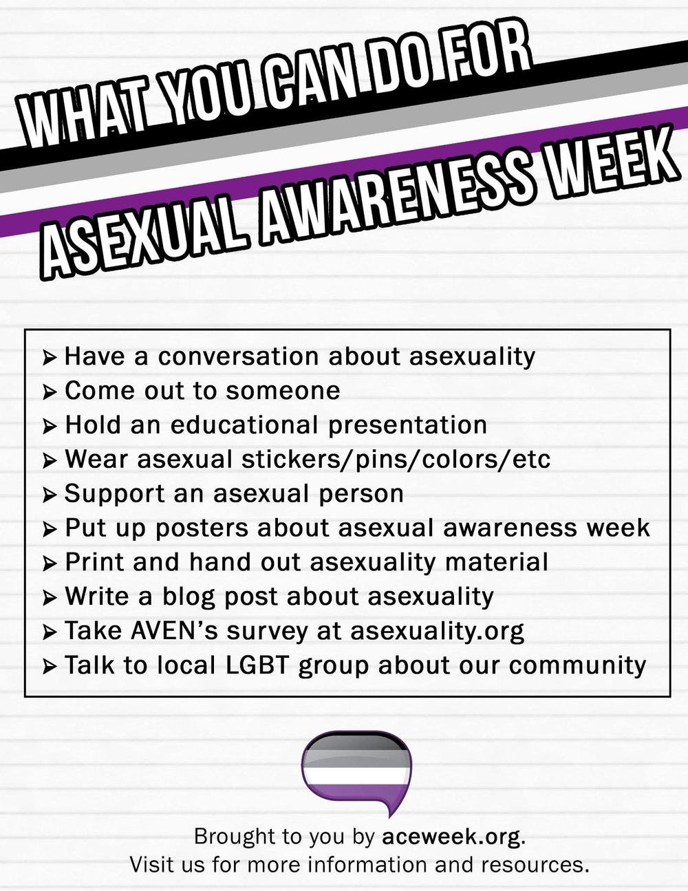 "The Rainbow Center is hosting an Asexuality Awareness Week event, called ""Ace of Cakes"" Friday at 3:15 pm. The event will be a mix of both fun and education. (Courtesy/Twitter)"