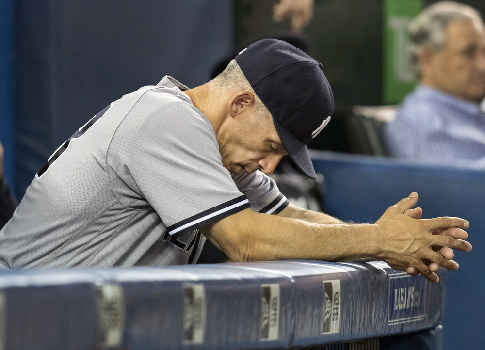 The New York Yankees announced Thursday, Oct. 26, 2017, that Girardi will not return to the team in the 2018 season. The announcement was made by Yankees Senior Vice President and General Manager Brian Cashman. (Fred Thornhill/The Canadian Press via AP)