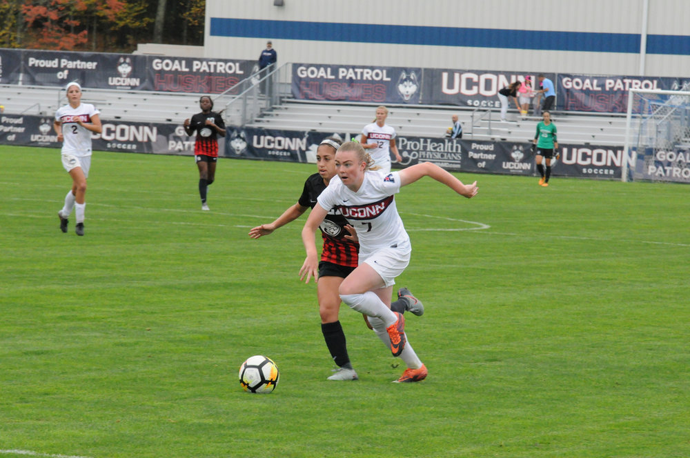 UConn faces University of Houston at Morrone Stadium on Sunday Oct. 15. The Huskies defeated the Cougars 3-2, with the game going into extra minutes. (Jon Sammis/The Daily Campus)