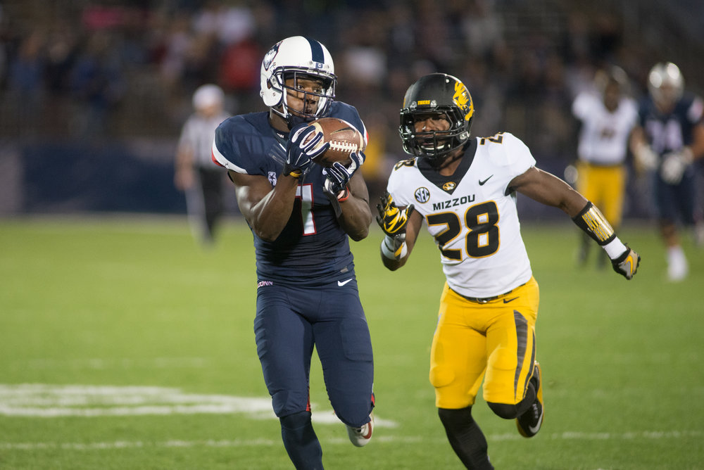 Attendance has been sparse for UConn football this season and Saturday's crushing defeat to Missouri was no different nor will it help the cause (Amar Batra/The Daily Campus)