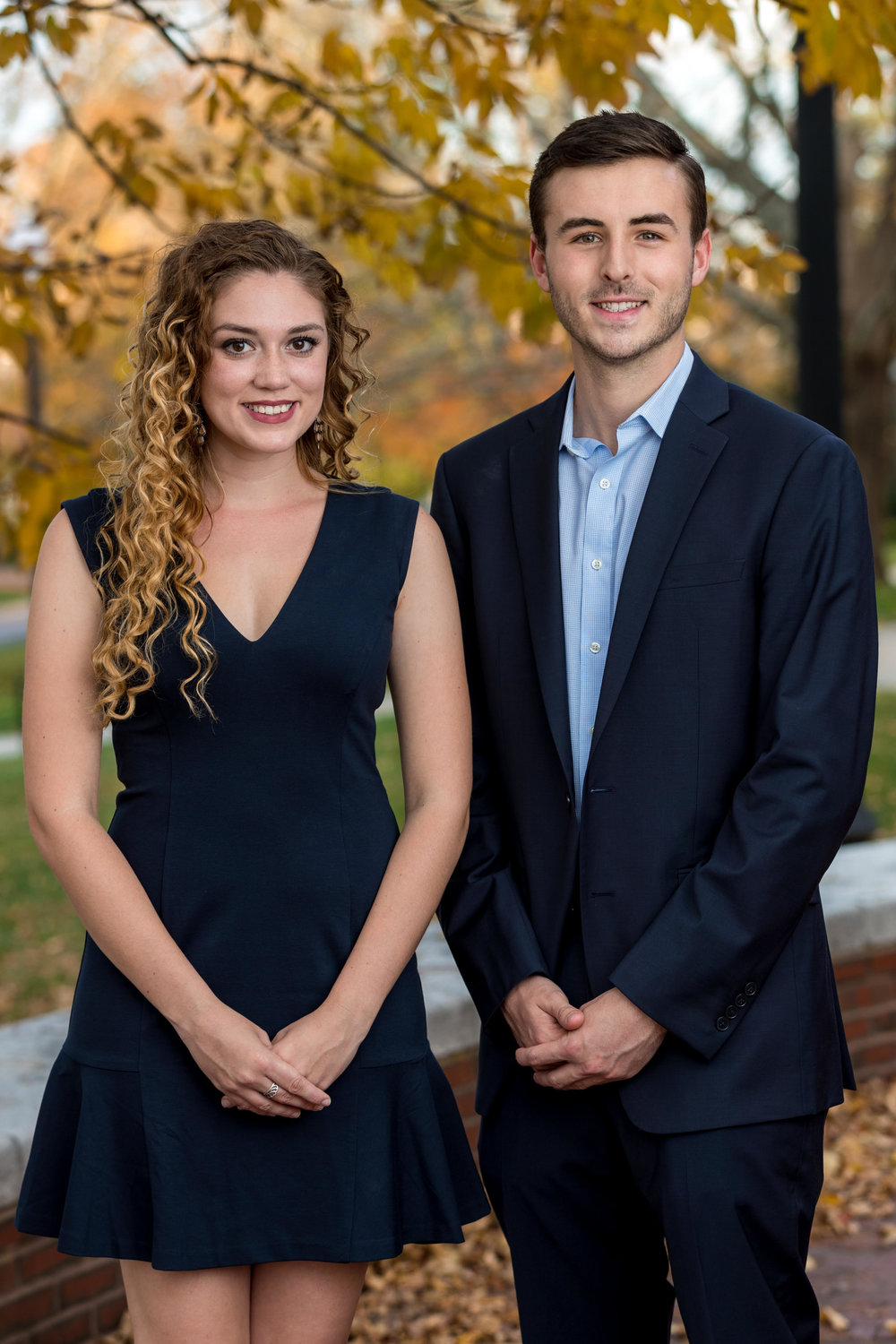 UConn students Haley Hinton and Colin Mortimer, members of the USG University Town Relations Committee, are running for Mansfield Town Council. (Charlotte Lao/The Daily Campus)