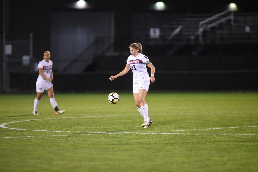 The UConn women's soccer team has been eliminated from their conference tournament after a fifth place finish in conference play. (Charlotte Lao/The Daily Campus)