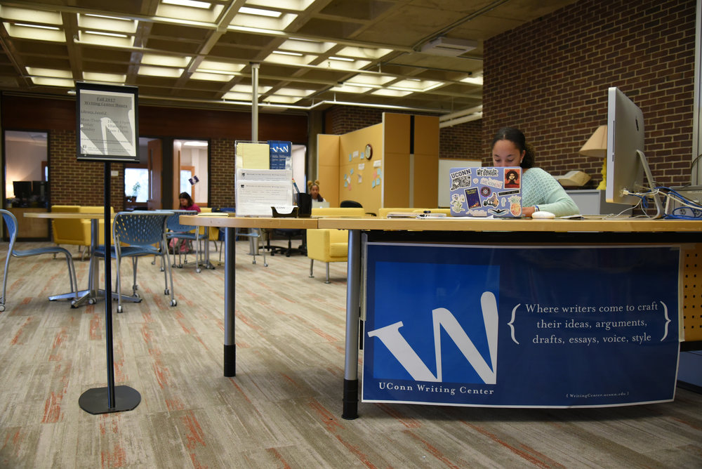 The Writing Center's hours at the University of Connecticut's Homer Babbidge Library now include a designated walk-in hour due to the high demand for its services, according to Writing Center Director, Tom Deans. (Charlotte Lao/The Daily Campus)