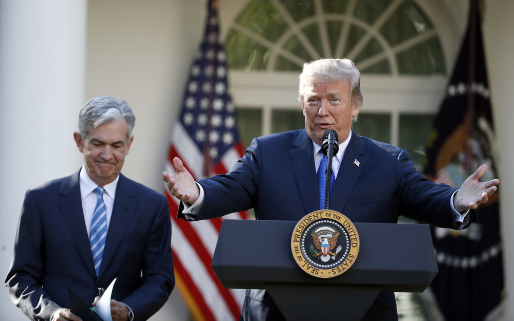 President Donald Trump announces Federal Reserve board member Jerome Powell as his nominee for the next chair of the Federal Reserve in the Rose Garden of the White House in Washington, Thursday, Nov. 2, 2017. (Alex Brandon/AP)
