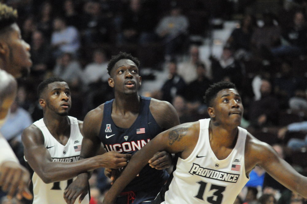 UConn and Queens will tip off at 5:30 p.m. Sunday at Gampel Pavilion. The Huskies will host an open practice Friday at 6 p.m., with doors opening at 5:30 p.m. for students. (Olivia Stenger/The Daily Campus)