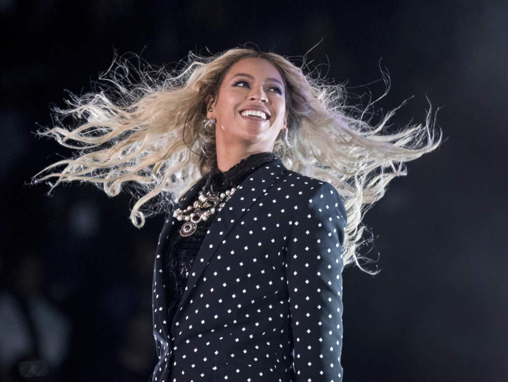 """FILE - In this Nov. 4, 2016 file photo, Beyonce performs at a Get Out the Vote concert for Democratic presidential candidate Hillary Clinton in Cleveland. Beyonce Knowles-Carter is joining the cast of """"The Lion King"""" to voice to role of Nala. (Andrew Harnik, File/AP)"""