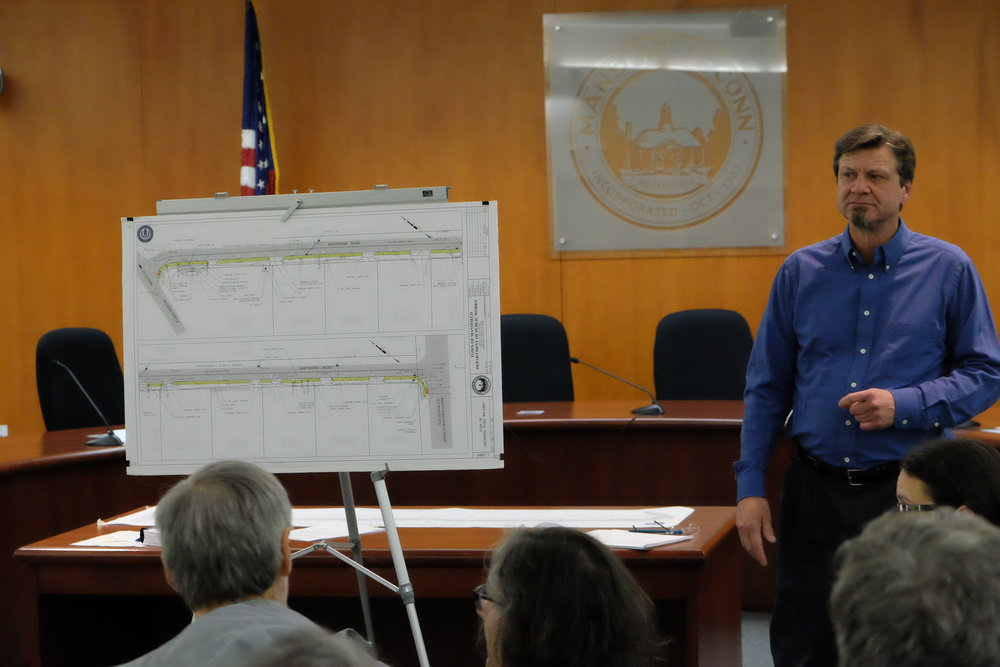 The sidewalk will be on the west side of the road, five feet wide and span approximately 1,200 feet down the road, according to Veillette. The sidewalk will connect into the crosswalk on Route 275 and end at the crosswalk at Hillside Circle, he said. (Jon Sammis/The Daily Campus)