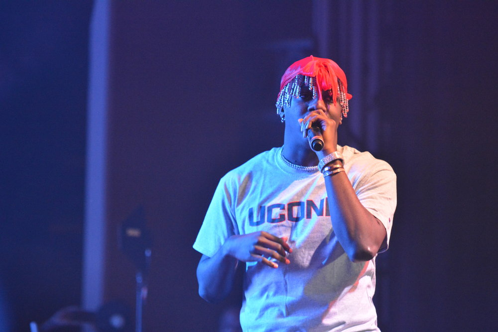 Rob $tone, H.E.R., and Lil Yachty perform at the SUBOG fall concert in Jorgensen on Friday, Nov. 4.  (Olivia Stenger/The Daily Campus)