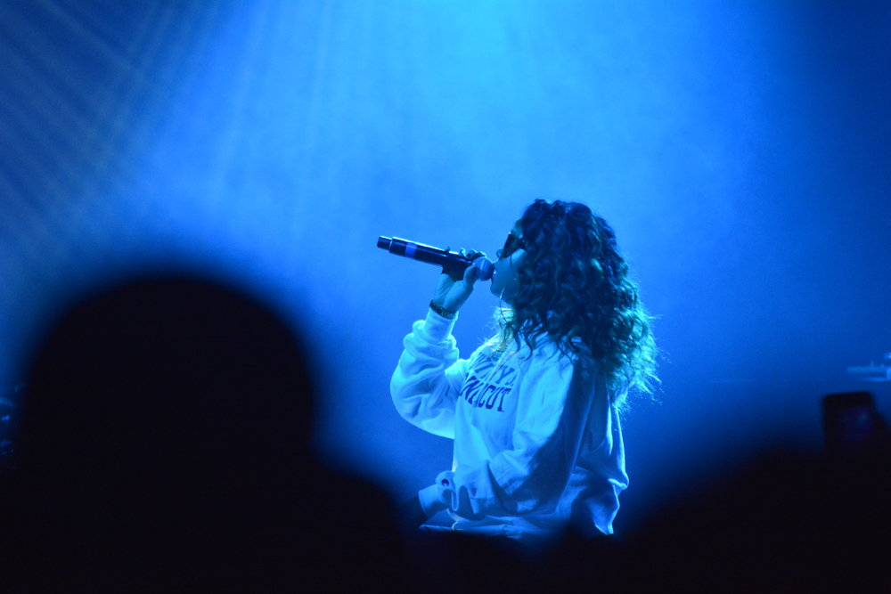 H.E.R. opened the show along with Rob $Stone (not pictured).  (Olivia Stenger/The Daily Campus)