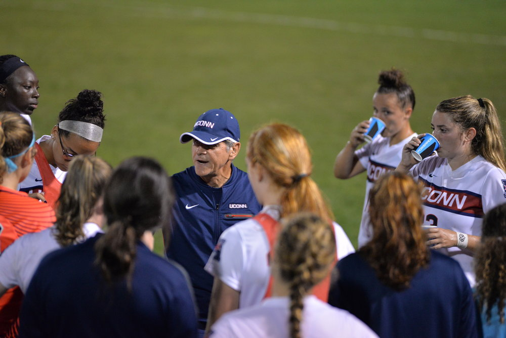 Len Tsantiris will not return to the bench next season for the UConn women's soccer team. (Amar Batra/The Daily Campus)