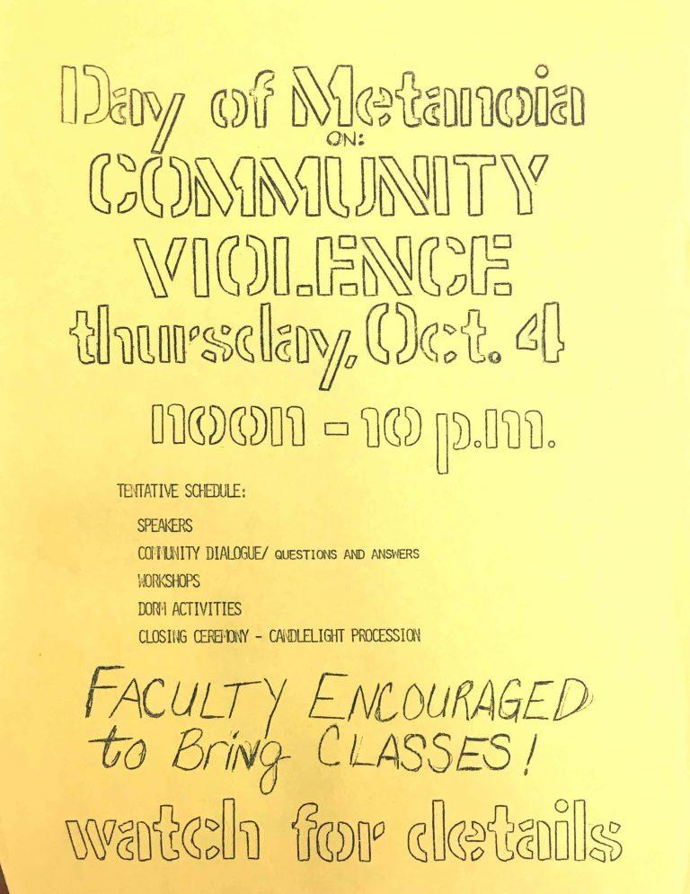 A flyer for a Metanoia event on October 10, 1979. (Via together.uconn.edu)