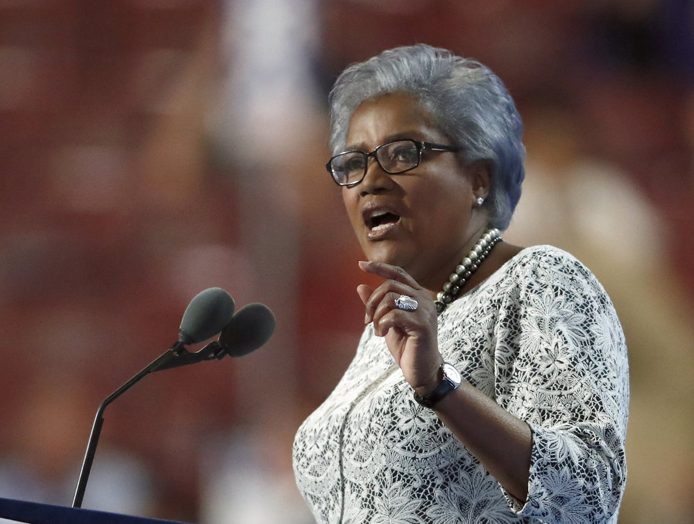 This July 26, 2016 file photo shows former head of the Democratic National Committee Donna Brazile speaking during the second day of the Democratic National Convention in Philadelphia. (Paul Sancya, file/AP)