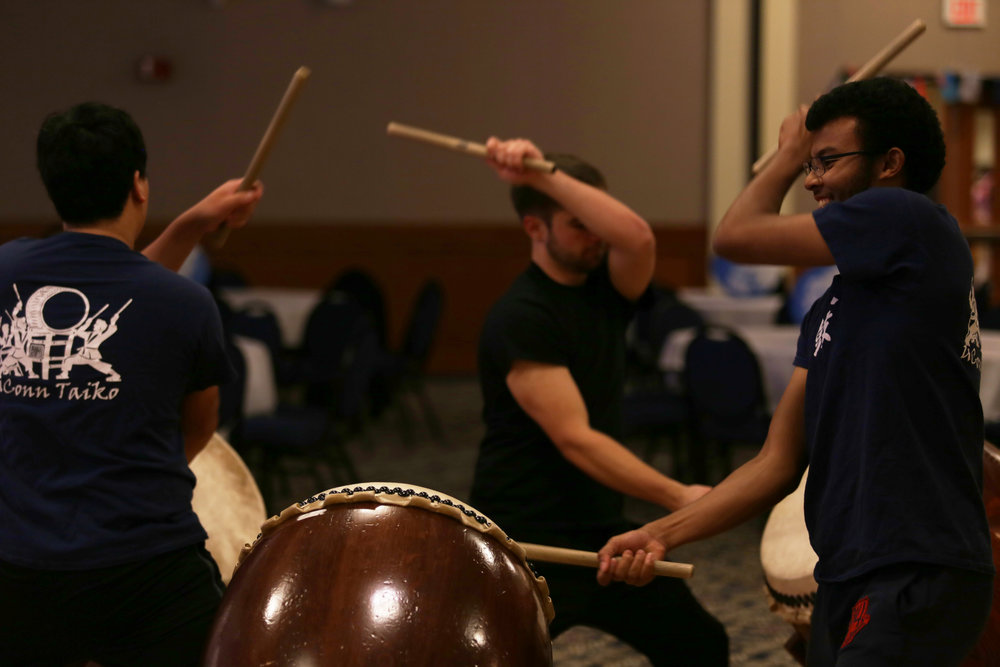 The first group to perform was UConn Taiko. Taiko is an ancient Japanese musical art form, specifically done with large drums. (Qilong Yun/The Daily Campus)
