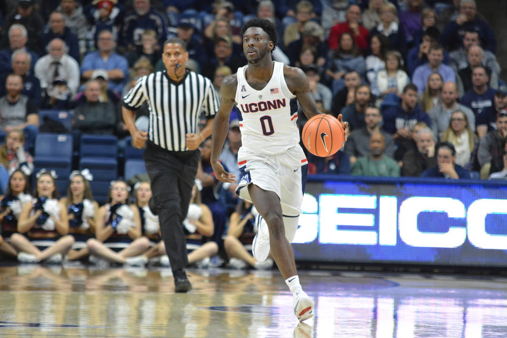 Graduate Antwoine Anderson impressed in his official debut with UConn (Olivia Stenger/The Daily Campus)