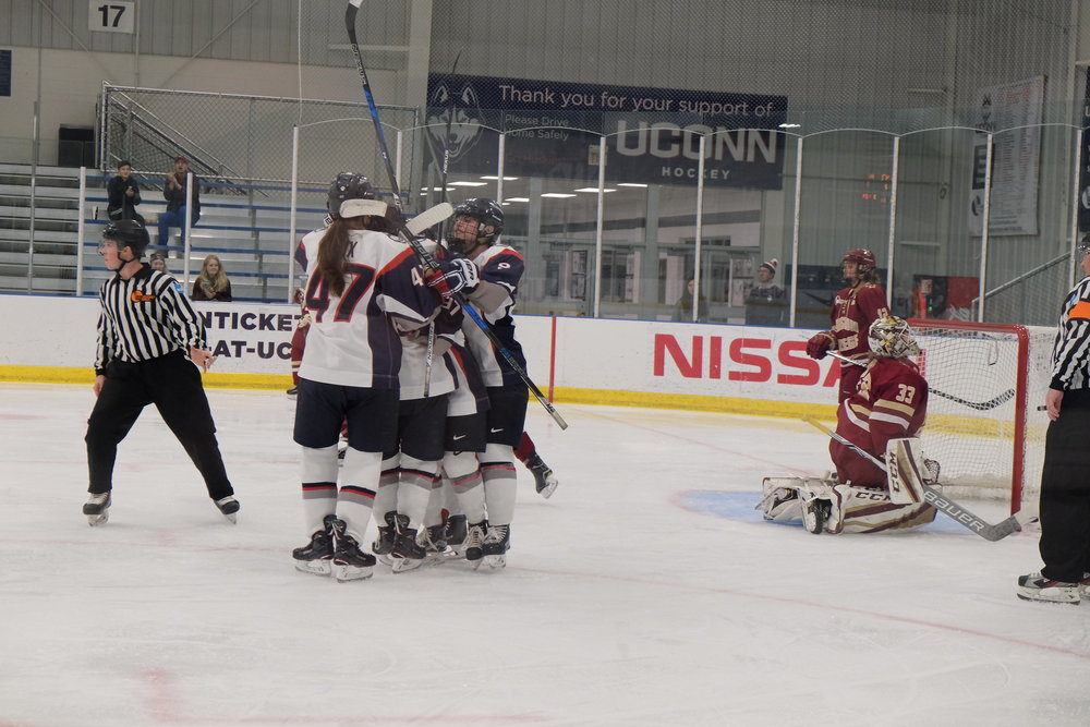 It was another winless weekend in Hockey East action for UConn (Jon Sammis/The Daily Campus)
