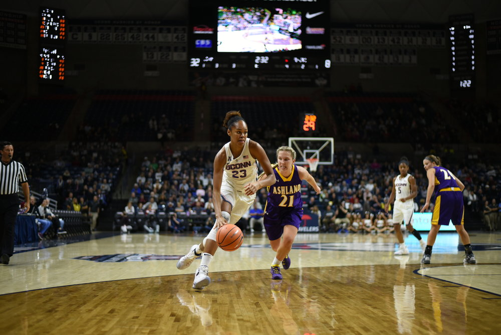 Newcomer Azura Stevens is a big part of UConn's plans for the 2017-2018 season (Charlotte Lao/The Daily Campus)