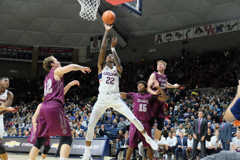 The game will be part of an XL Center doubleheader. The UConn women will play before the Huskies tip off at 6 p.m. SNY will be providing TV coverage, and the game can be streamed on the NBC Sports app when signed in with a cable package. (Jon Sammis/The Daily Campus)