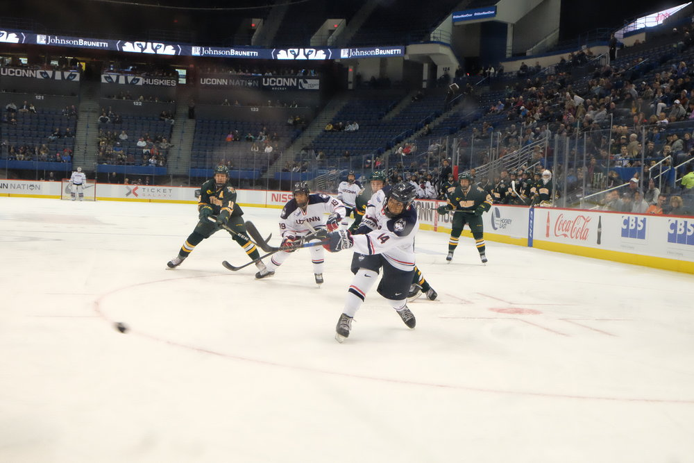 UConn and UMass-Lowell will open the weekend slate with a 7:15 p.m. puck drop at the Tsongas Center on Friday. (Jon Sammis/The Daily Campus)