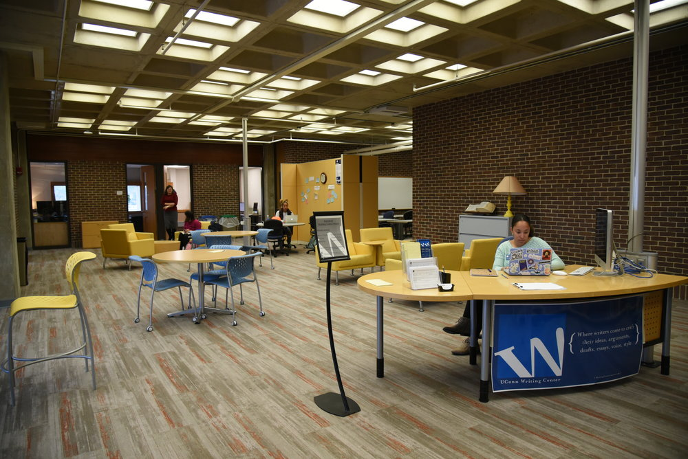 The Homer Babbidge Library will be open 24 hours for exams starting Friday, Dec. 8 to Sunday, Dec. 17.  (Charlotte Lao/The Daily Campus)