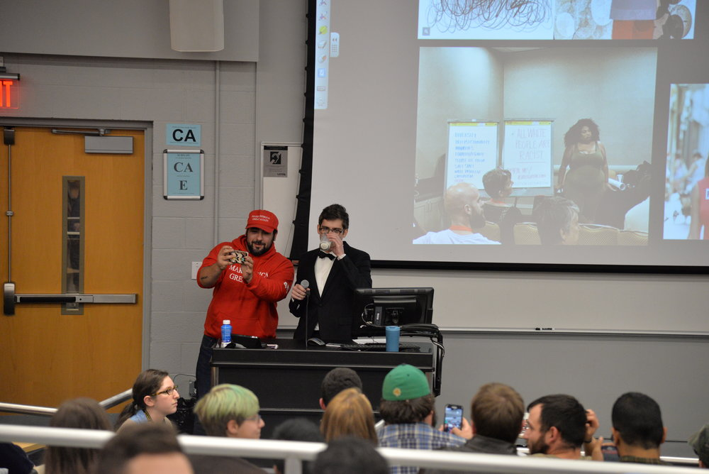 "The Gateway Pundit posted a story saying that it was a ""packed house at UConn to see Lucian Wintrich."" (Amar Batra/The Daily Campus)"