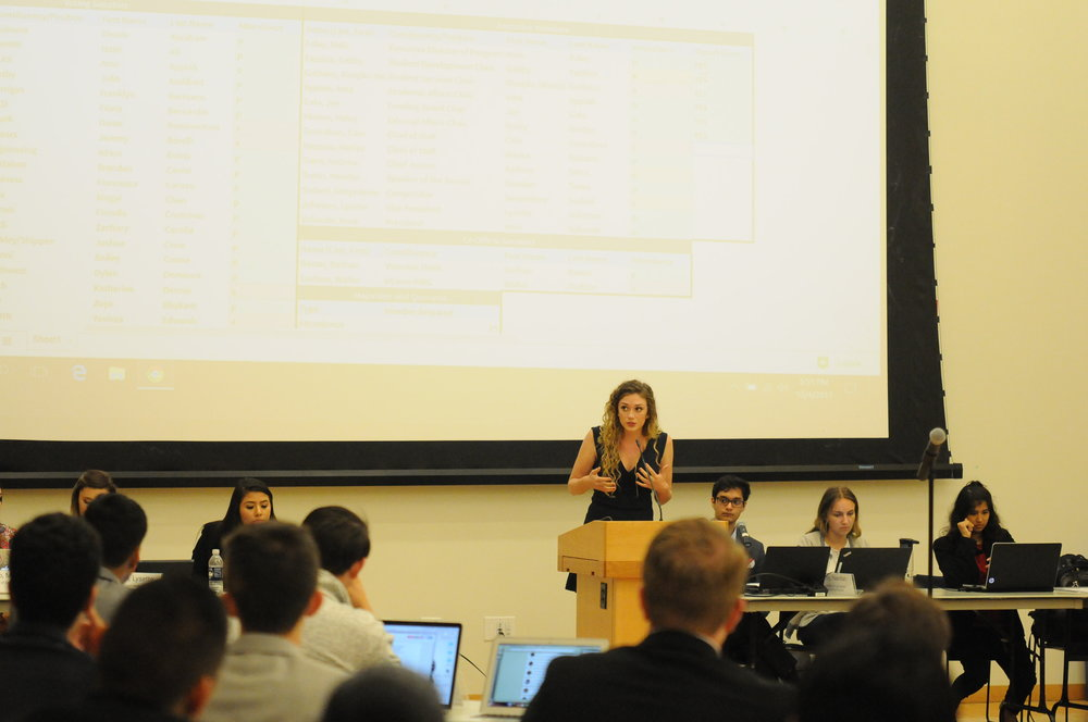 USG senator Crystal Klicin said she believes there is a lack of communication between the student body and USG and she feels more can be done to connect the student body to USG to make the committee effective. (Natilija Marosz/The Daily Campus)