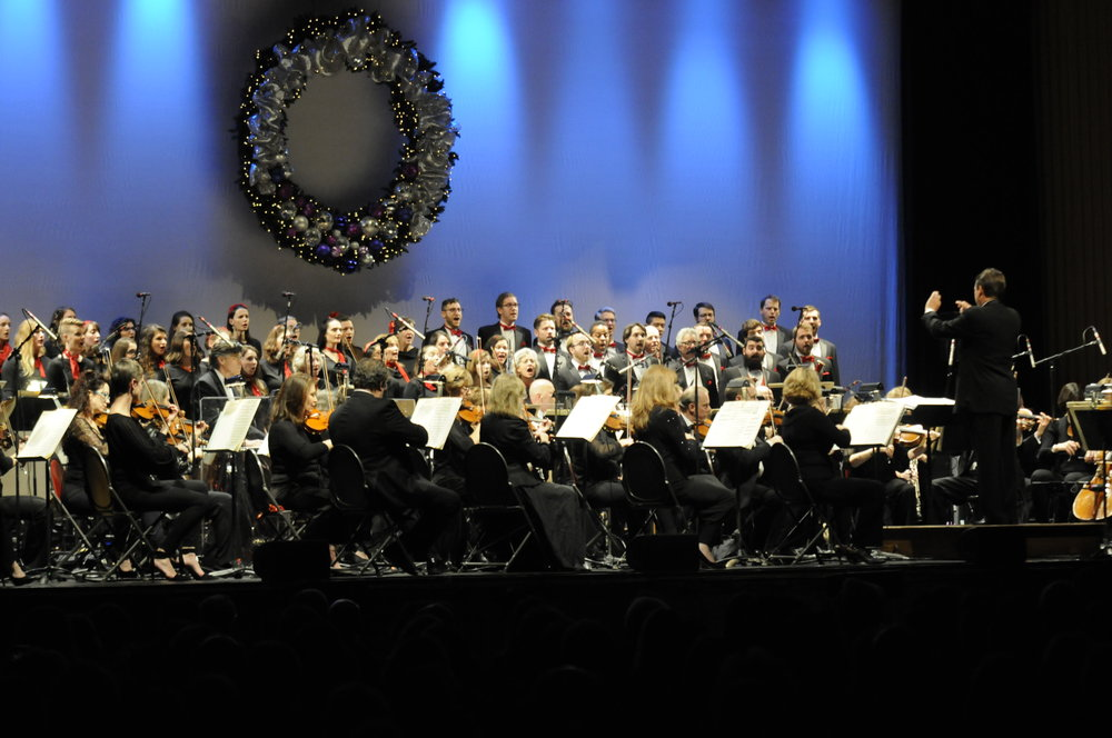 Boston Pops play in Jorgensen Theatre on Saturday Dec. 2. Performing for the 12th time at UConn, the Orchestra performed some of the Christmas classics to set the Holiday mood.  (Jon Sammis/The Daily Campus)
